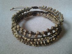 Set of three with coconut beads