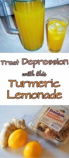 Treat Depression with This Turmeric Lemonade