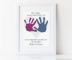 Gift for Teacher Nanny Daycare Babysitter by PitterPatterPrint