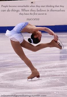 I feel like figure skating is my true talent, it's something I have done since I was 10. It's my passion.