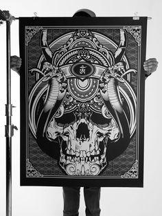 058 - Oversized Silk Screen Prints by Joshua M. Smith, via Behance