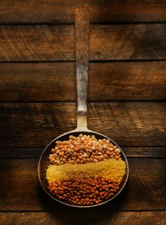 Wooden Pan with Lentils and Couscous  Morocco :)