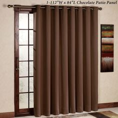 Curtain rod size for sliding glass door curtain rods pinterest ultimate blackout grommet patio panel planetlyrics Gallery