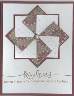 Pinwheel card by Kittykat - Cards and Paper Crafts at Splitcoaststampers