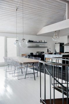 modern kitchen + dining