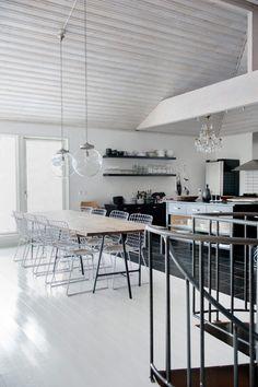 modern kitchen + dining