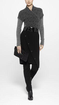 #Sarah Pacini!  Leather Skirts #2dayslook #fashion #LeatherSkirts www.2dayslook.com