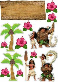 Moana Party, Moana Themed Party, Elsa Birthday Party, Baby Clip Art, Maui, Hawaii, Party Printables, Moana Printables, Birthday Decorations