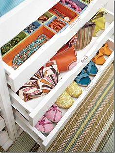Love these closet drawers! definitely need jewelery drawers and ones for my scarves. And also for Greg's watch collection :0)