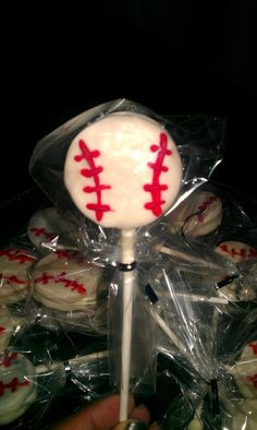 Delicious oreos cover in with chocolate great for a baseball snack