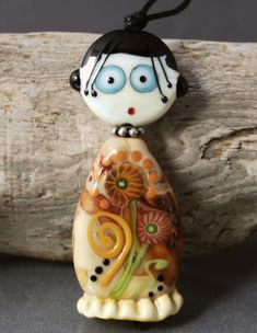 LITTLE MISS  two piece glass bead doll. by jperaladesigns on Etsy