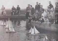 New Brighton model boating lake in 1954