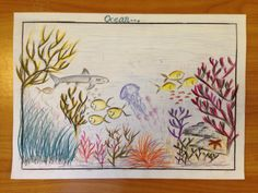 Mohamed Ahil Aagil - Age 8 Drawing Competition, Ocean Day, Marine Conservation, Oceans Of The World, Vintage World Maps, Drawings, School, Sketches, Drawing