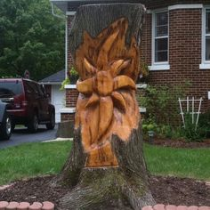Tree art wood carving