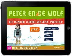 Peter en de wolf is een educatieve app van het Koninklijk Concertgebouworkest. Gemaakt in samenwerking met Uitgeverij Follow a Muse. Wolf, Opera, Drama, Teacher, Songs, Apps, Winter, Musica, Atelier