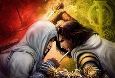 Prince of Persia VS Assassin's Creed Art Digital painting with video