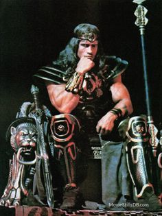 Conan The Barbarian - Publicity still of Arnold Schwarzenegger Conan The Barbarian 1982, Barbarian Movie, Marvel Comics, Marvel Dc, Arnold Movies, Science Fiction, Conan The Destroyer, Vikings, Sword And Sorcery