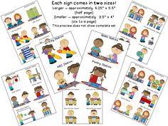 Freebie!!!  Kindergarten Literacy Station Signs!