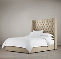 "68"" Adler Tufted Platform Bed Without Footboard"
