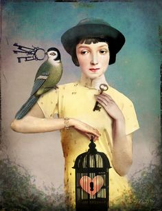 """The perfect Key"" Graphic/Illustration by Catrin Welz-Stein posters, art prints, canvas prints, greeting cards or gallery prints. Find more Graphic/Illustration art prints and posters in the ARTFLA. Art And Illustration, Animal Illustrations, Illustrations Posters, Image Originale, Keys Art, Bird Cages, Pop Surrealism, Wassily Kandinsky, Whimsical Art"