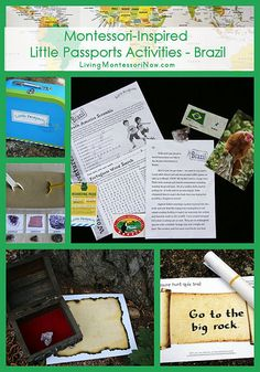 Montessori-Inspired Little Passports Activities – Brazil with links to free Rocks and Minerals Classified Cards and Printable Treasure Maps