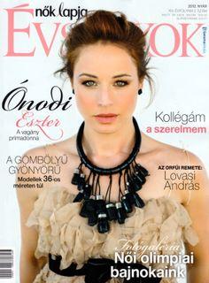 Ónodi Eszter Hungarian actress wearing Daalarna Couture chiffon cocktail dress on the cover of magazine Nők Lapja Évszakok Chokers, Chiffon, Cocktail, Magazine, Actresses, Couture, How To Wear, Dress, Fashion