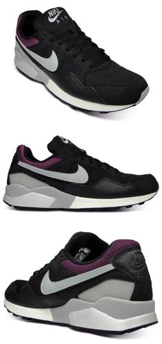 new style 03925 45deb Nike Air Pegasus Black Matte Silver Sangria