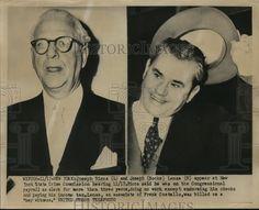 1952 Press Photo Joseph Ricca Joseph Socks Lanza at State Crime Commission | eBay