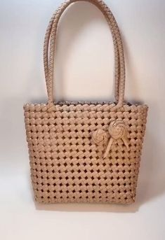 Diy Crafts Hacks, Diy Home Crafts, Crochet Bag Tutorials, Crochet Patterns, Sac D'art, Diy Handbag, Art Bag, Diy Bags, Weaving Art