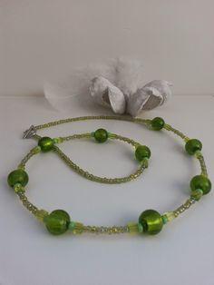 Collier en perles vert
