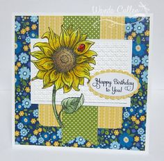 Sunflower Birthday by cullenwr - Cards and Paper Crafts at Splitcoaststampers