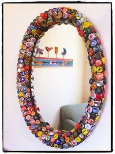 50 FOTOS E IDEAS PARA DECORAR CON CHAPAS DE BOTELLAS.