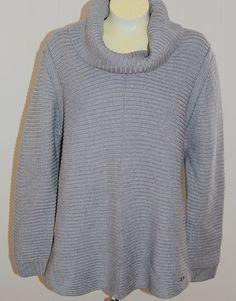 Calvin Klein Sweater XL NWT Gray Cowl Neck $89 Long Sleeves #CalvinKlein #CowlNeck