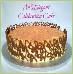 A stunning looking cake, which tastes divine!  Marbled Chocolate Orange Celebration Cake