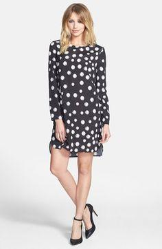 long sleeve crepe shift dress / wayf