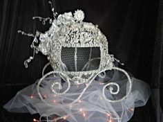 Blinged out Carriage Cinderella card holder box by thealteredchick