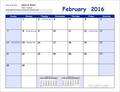 academic calendar blank