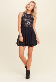 Sequin Skater Dress - Hollister