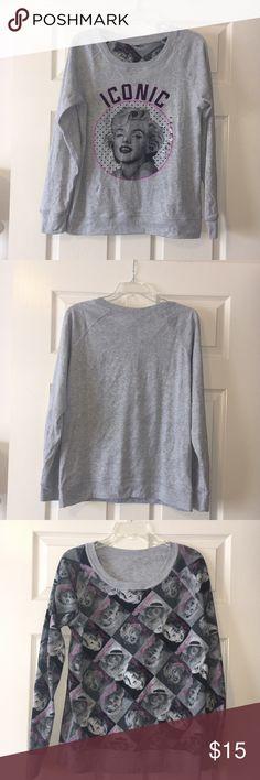 REVERSIBLE Marilyn Monroe sweatshirt Reversible sweatshirt with Marilyn Monroe on both sides. Tops