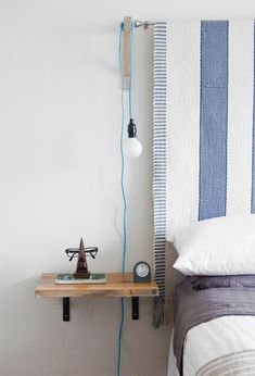 6 Most Simple Tips and Tricks: Floating Shelves Laundry Projects floating shelf nightstand grey walls.Square Floating Shelves Tips oak floating shelf display.Floating Shelves With Pictures Apartment Therapy. Decor, Furniture, Shelves, Interior, Floating Shelves Bedroom, Bedside Table Diy, Floating Nightstand, Home Decor, Shelves Under Tv