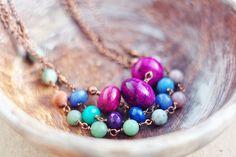 Antique copper stone rustic brihht purple plum by SabiKrabi, $35.00