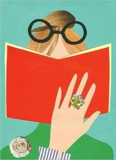 Creative Illustration, and Book image ideas & inspiration on Designspiration I Love Books, Books To Read, My Books, Woman Reading, I Love Reading, Reading Library, Reading Art, Illustrations, Illustration Art