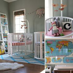 A Twin-Tastic Nursery -Stokke Crib available www.petitbebe.com