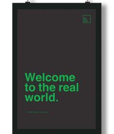Poster/Quadro com Frase do filme Matrix – Welcome to the real world