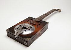 Resonator Six String Cigar Box Guitar