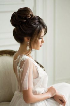 wedding hair style idea; Via Elstile