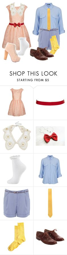 """""""Jane and Michael Banks"""" by lovelylittledisney ❤ liked on Polyvore featuring Topshop, ASOS, Miss Selfridge, Oasis, Paolo Albizzati and Burlington"""