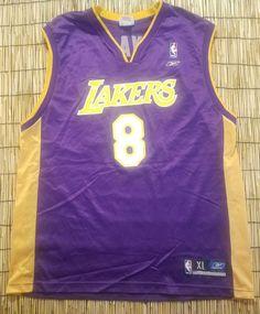 1a25b644c Los Angeles Lakers Kobe Bryant Vintage Jersey Away Jersey Sports Team size  XL