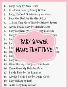 Baby shower games and free printables. Pregnancy and Expecting Baby Ideas Baby shower games and free printables. Pregnancy and Expecting Baby Ideas Baby Shower Songs, Fiesta Baby Shower, Baby Shower Niño, Shower Bebe, Baby Songs, Fun Baby Shower Games, Baby Shower Gender Reveal, Baby Games, Shower Party