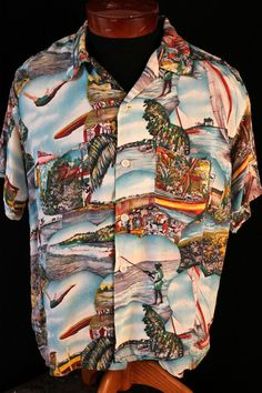 d58f0ef2 Hawaiian shirts become extremely popular in the 1940s. Pacific Theatre  veterans returned home with these